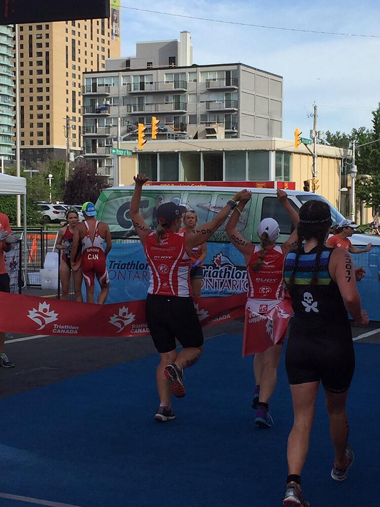 Diane and Kory Canadian Paratriathlon Championship Finish Line