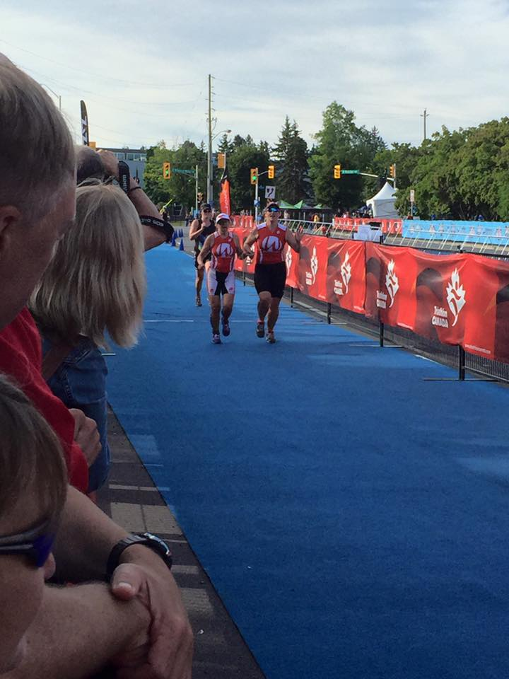 Diane and Kory approaching finish line