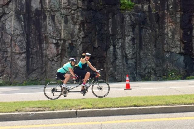 Diane and Kory on Bike