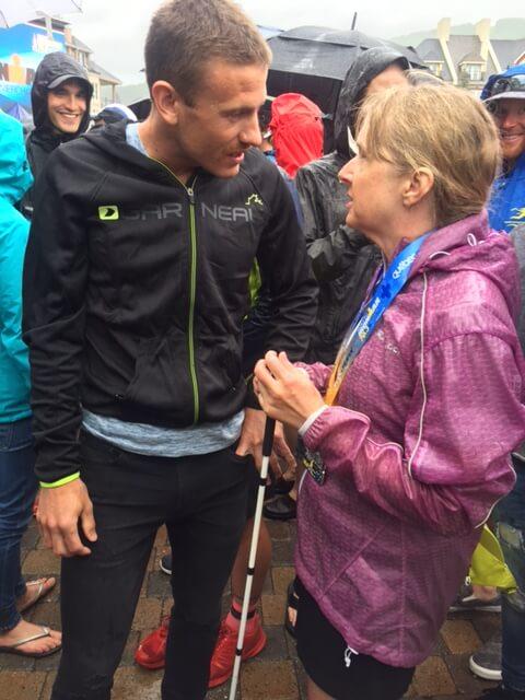 Diane Speaking with Canadian Ironman Superstar Lionel Sanders